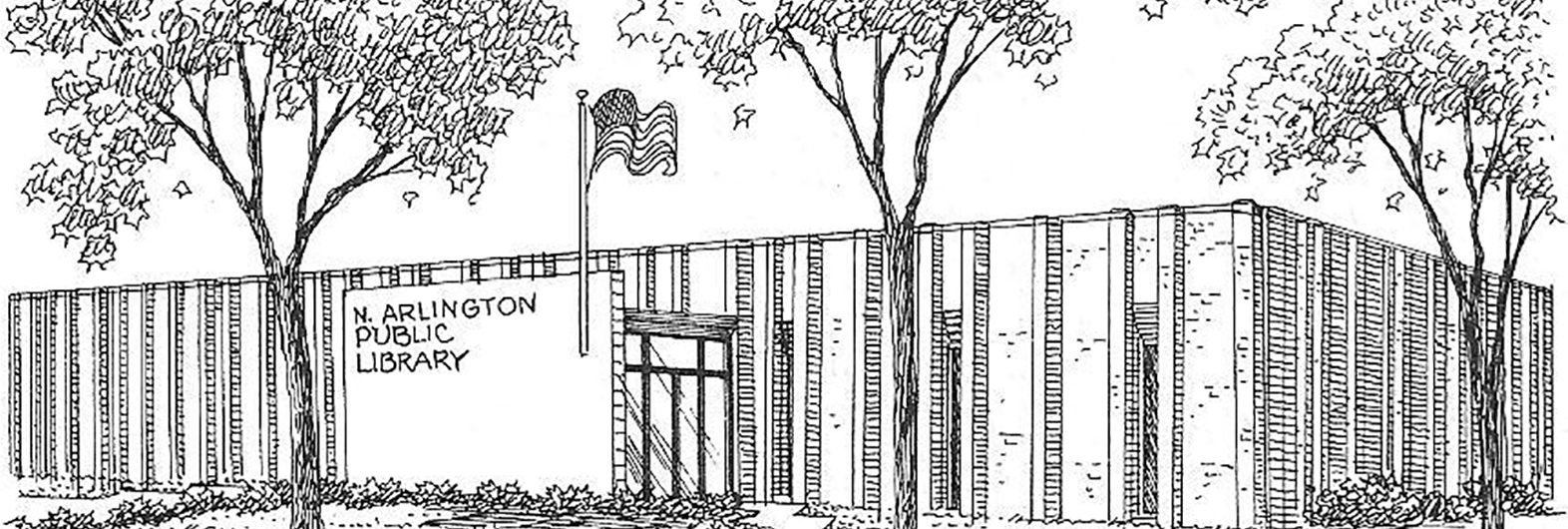 North Arlington Public Library Sketch